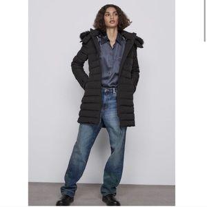 Zara Down Coat Size S NWT